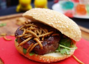 hamburger insetti vermi