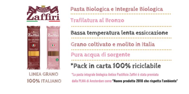 Nuova sfida per il Pastificio Zaffiri, pasta biologica e integrale biologica
