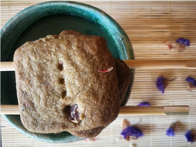 Shortbread al tè matcha