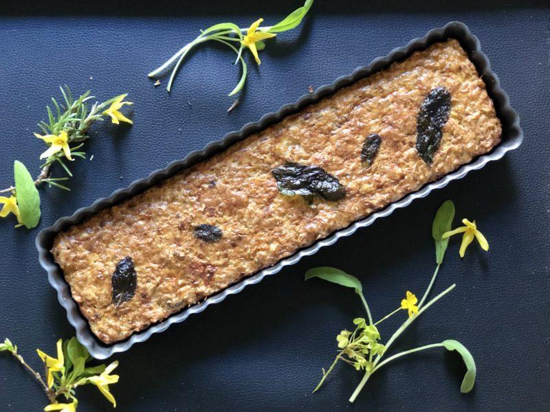 Torta salata di farro senza farina a basso indice glicemico