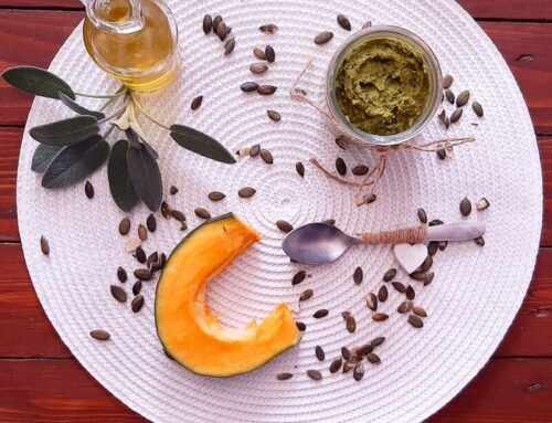 Pesto vegano di bucce e semi di zucca