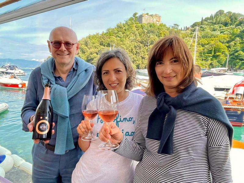 Alberto Massucco e le sorelle Mussini
